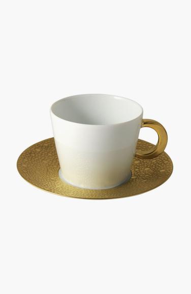 Кофейная чашка с блюдцем Ecume Or, Bernardaud, 19 300 руб.
