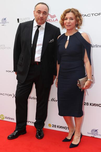 Продюсер Александр Роднянский с супругой Валерией