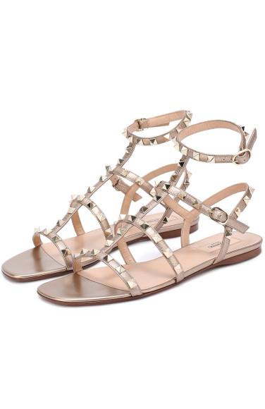 VALENTINO Кожаные сандалии Rockstud