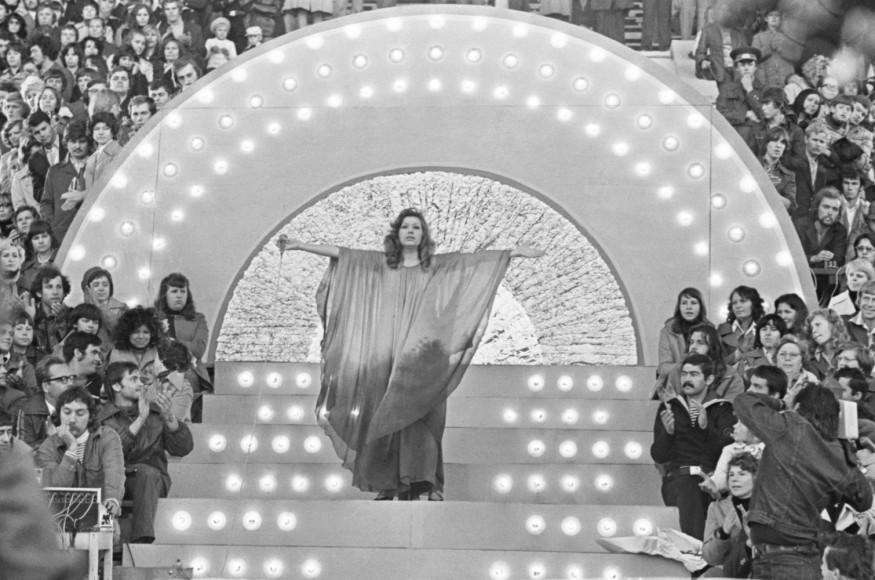 Юрий Венделин, Анатолий Рухадзе.Съемки фильма-концерта Аллы Пугачевой в Таллине, 1978