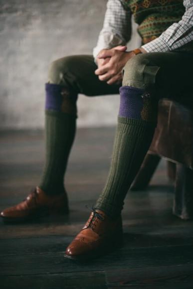 Брюки из твида Moorland Tweed