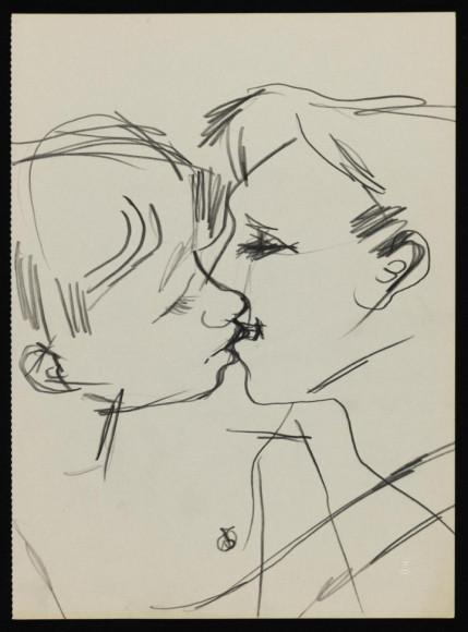 Keith Vaughan. «Drawing of Two Men Kissing», 1958-73