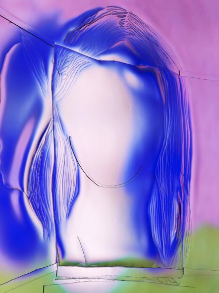 Манон Вертенброк, «Синий портрет», 2018