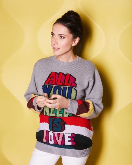 Наиля Аскер-заде в свитере Stella McCartney
