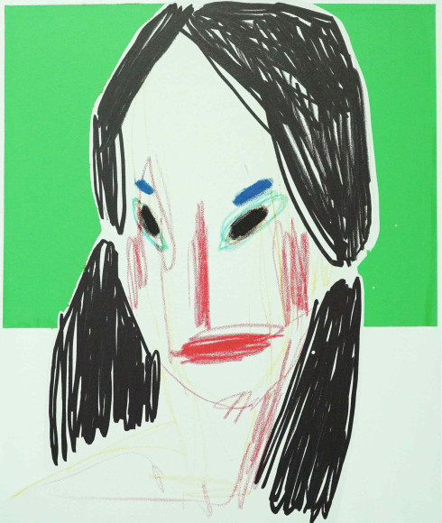 «Незнакомка», 2020, холст, масляная пастель, акрил, 65х50 см, 35000 руб.
