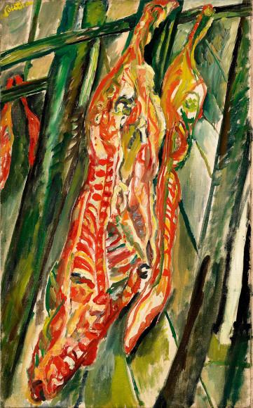 Хаим Сутин. «Бычья туша», 1920