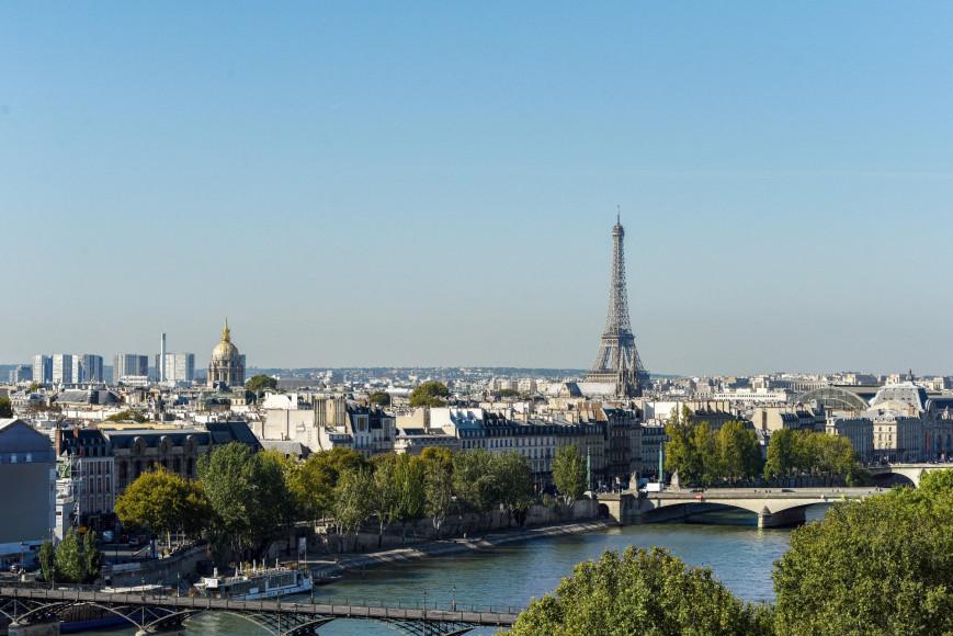 Из отеля открываются панорамные виды на Париж