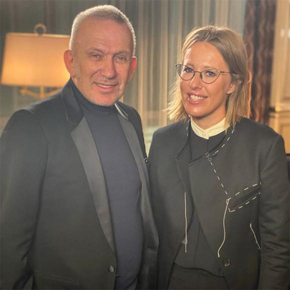 Жан-Поль Готье и Ксения Собчак