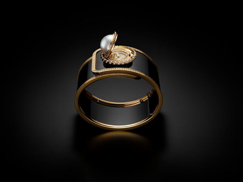 Часы-манжета Mademoiselle privé Bouton Ganse de Diamant,Chanel
