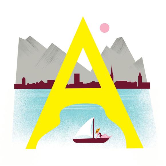 Алфавит Bally, созданный в сотрудничестве с мировыми художниками
