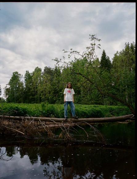 Мария Скокова в лукбуке своей коллабоорации с маркой 404 Not Found
