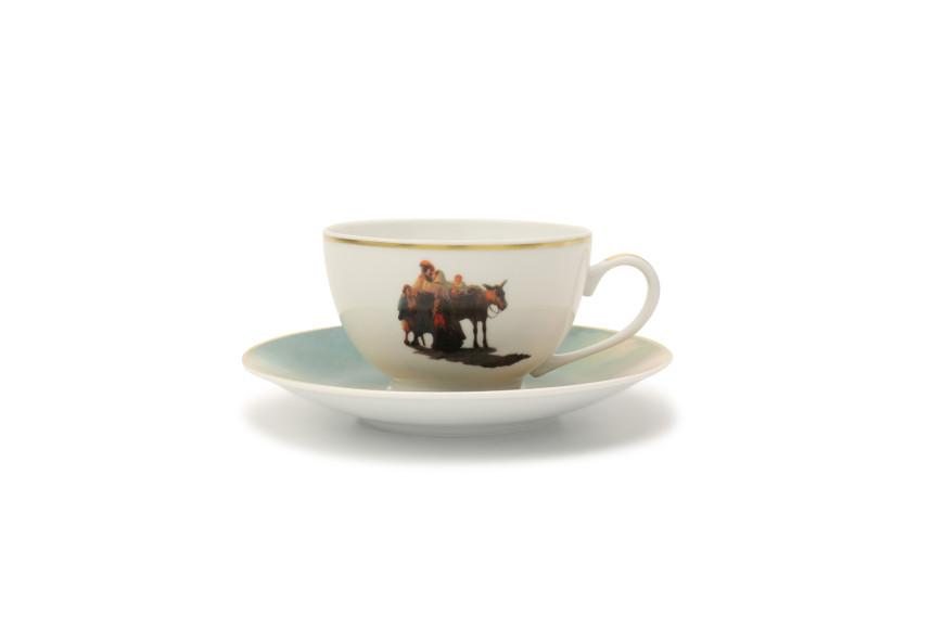 Чайная пара «Морской берег. Прощанье», Bernardaud