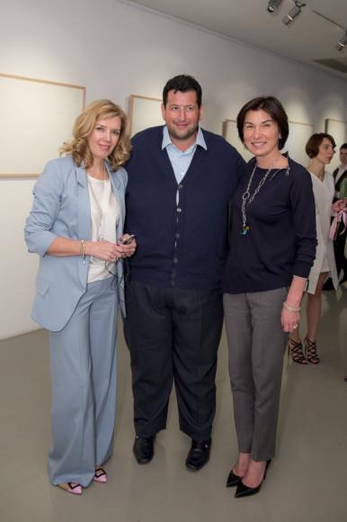 Марианна Сардарова (фонд и галерея RuArts), Ян Яновский (финансист), Ирада Зейналова (ведущая Первого канала)