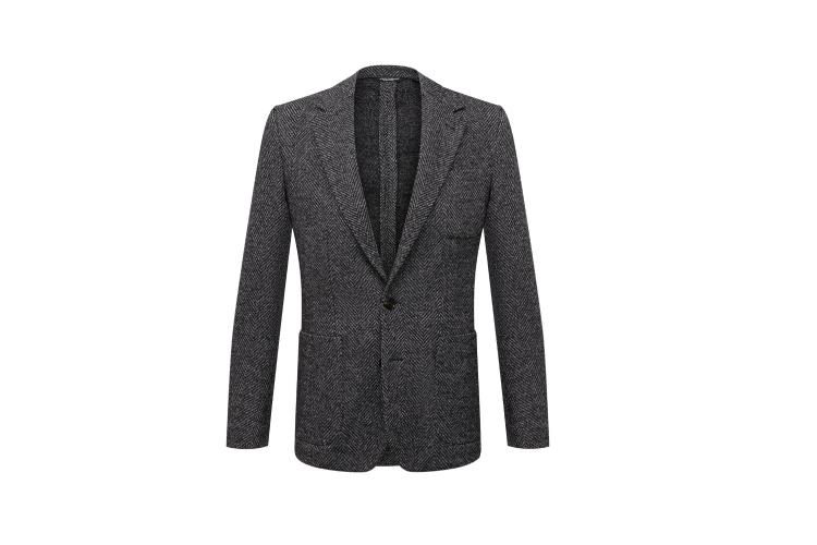 Пиджак из шерсти и хлопка, Dolce & Gabbana, 157500 руб.