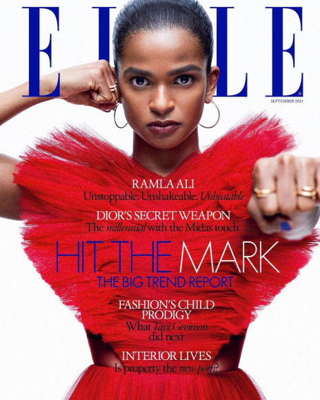 Рамла Али на обложке британского Elle, сентябрь 2021