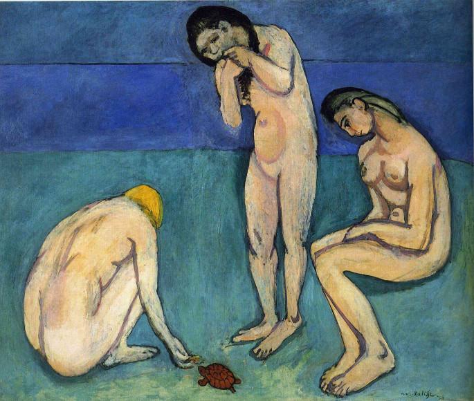 Анри Матисс. «Купальщицы с черепахой», 1907–1908