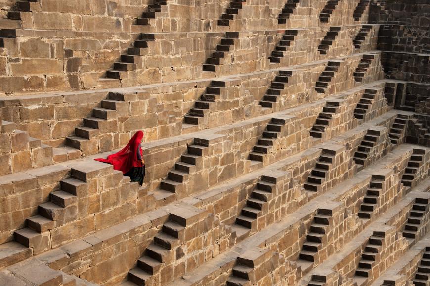 Ступенчатый колодец Чанд Баори, Индия