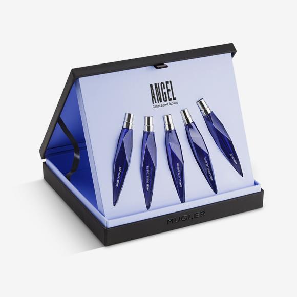 Лимитированный набор Angel Collection d'Etoiles, 5x10 мл, Mugler. Набор представлен эксклюзивно в парфюмерном супермаркете «Золотое Яблоко». Цена: 9500 руб.