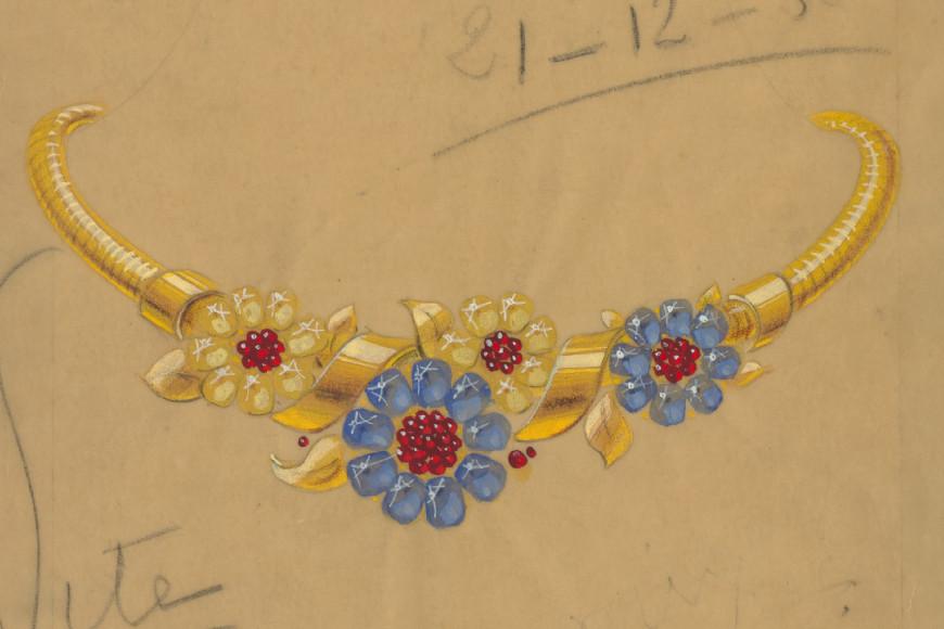 Эскиз украшения Flower Passe-Partout, 1938 год