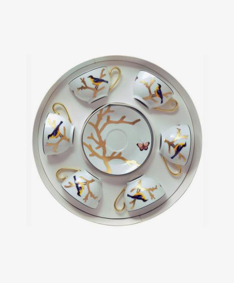Набор из шести чайных чашек с блюдцами Aux Oiseaux, Bernardaud, 109 000 руб.