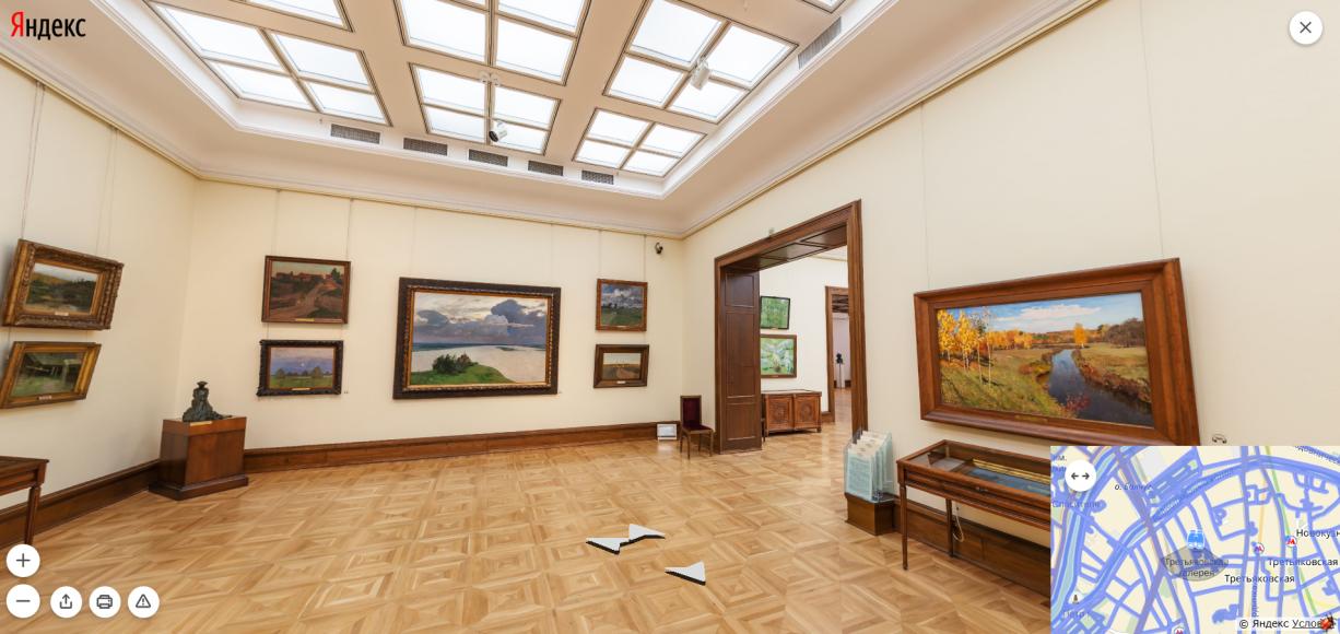 Третьяковская галерея. Зал И. Левитана