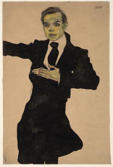 Эгон Шиле. «Художник Макс Оппенгеймер», 1910