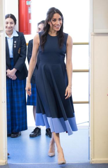 Меган Маркл в платье Roksanda