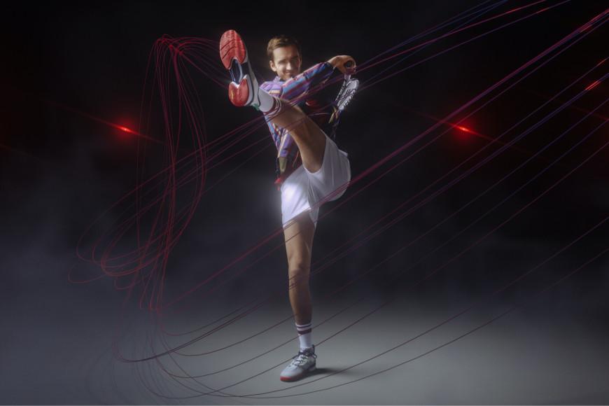 Даниил Медведев в кроссовках Lacoste AG-LT21 Ultra