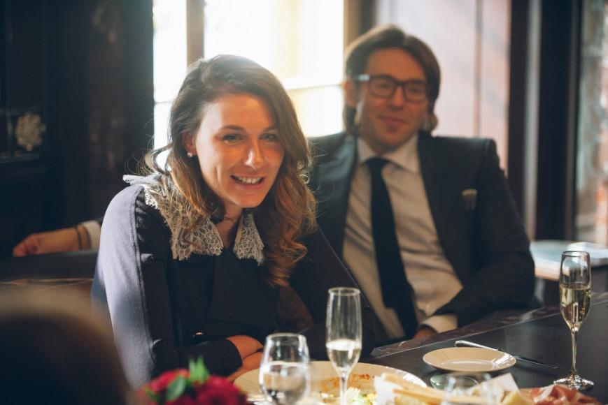 Главный редактор Harper's Bazaar Дарья Веледеева и телеведущий Андрей Малахов