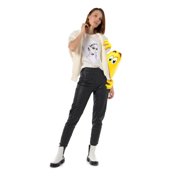 Футболка и брюки, Vero Moda; пуловер, BELUCCI