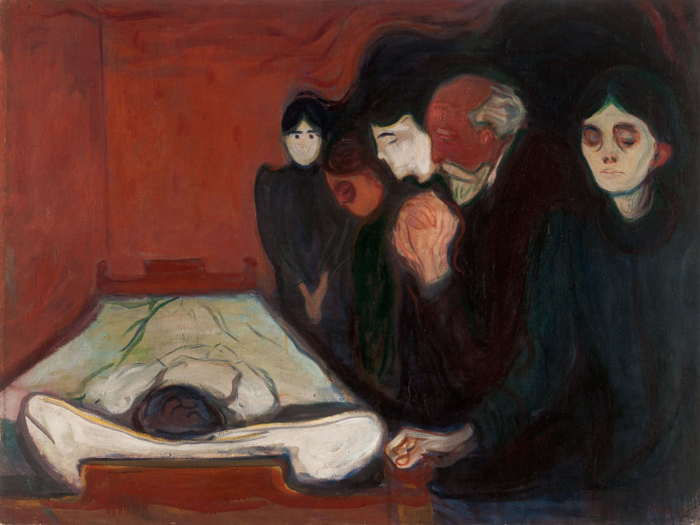 Эдвард Мунк. «At the Deathbed», 1895