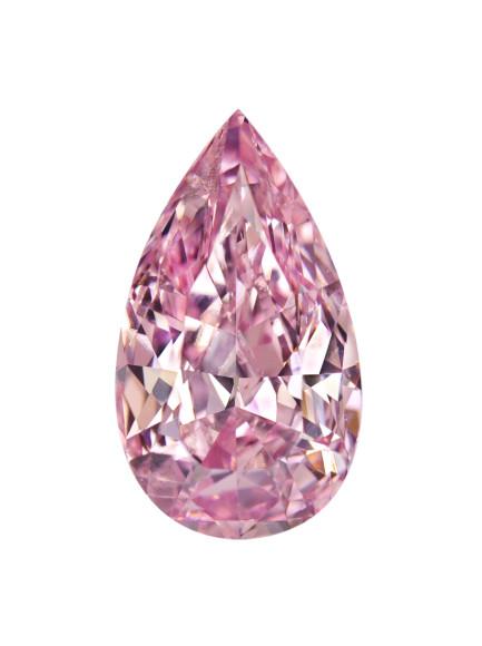 Розовый бриллиант грушевидной огранки, 3,5 карата (Dehres)