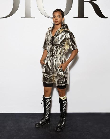 Рамла Али на показе Dior, сентябрь 2021