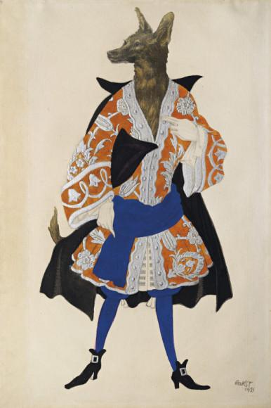 Лев Бакст. Эскиз костюма Волка для спектакля «Спящая Красавица»