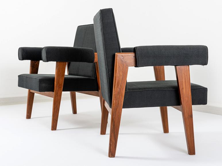Пьер Жаннере, кресла «Чандигарх», галерея «Тираж 1/1»(Tirage Unique)