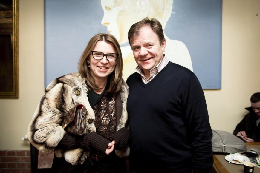 Советский и российский саксофонист Игорь Бутман и частный коллекционер Вера Аникеева