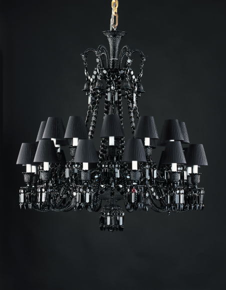 Люстра Zenith Black 24L Philippe Starck, Baccarat (Третьяковский проезд)