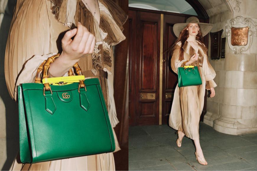 Рекламная кампания сумки Diana, Gucci