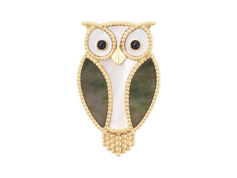 Брошь Owl Lucky Animals, Van Cleef & Arpels