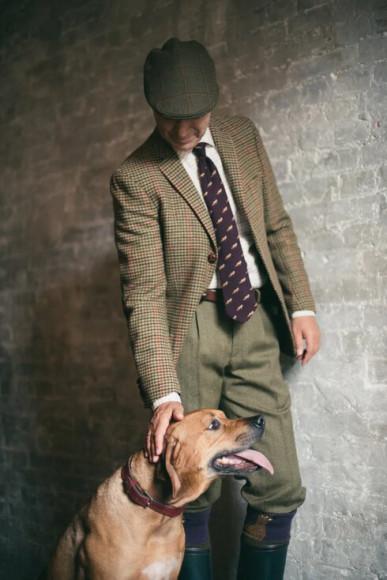 Дмитрий Калашников в брюках из твида Moorland Tweed
