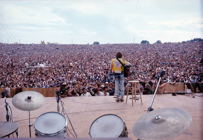 Джон Себастьян на фестивале в Вудстоке, 1969