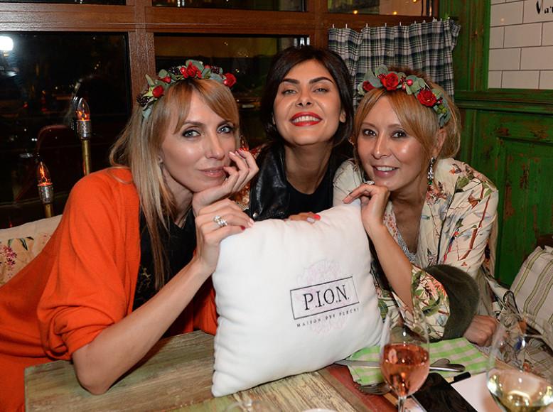 Светлана Бондарчук, Надежда Оболенцева и Дина Хабирова