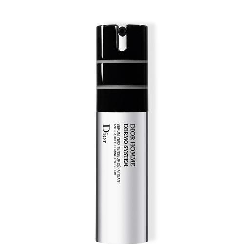 Укрепляющая сыворотка для контура глаз Dior Homme Dermo System, Dior предназначена для борьбы с признаками усталости. Она включает комплексы Retensium и Cafexyl, которые активно воздействуют на кожу контура глаз и убирают мешки под глазами