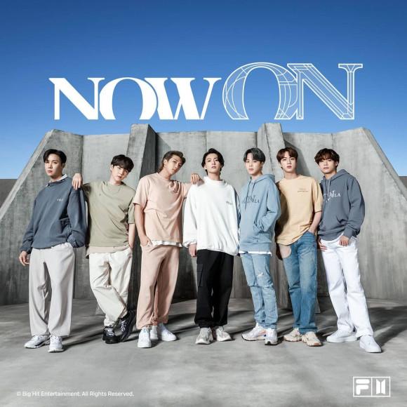 Группа BTS в рекламной кампании своей коллаборации с FILA, февраль 2021