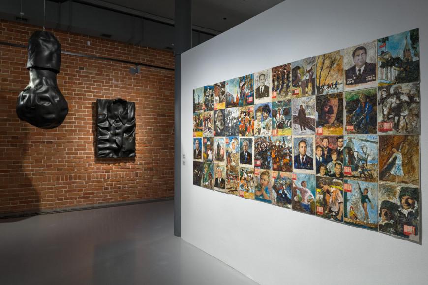 Вид экспозиции выставки Владимира Козина «Почувствуй себя птицей». Выставочная программа премии «Инновация-2020»