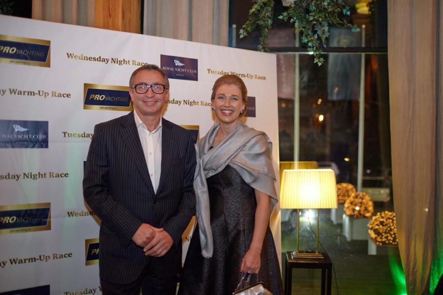 Игорь Лукашов, председатель совета директорв фитнес-клуба X-fit, кандидат экономических наук, и Екатерина Скудина, чемпионка мира и Европы по парусному спорту