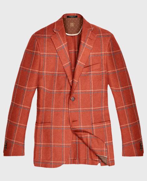 Пиджак, Corneliani.Чтобы органично носить такой пиджак, кажется, нужно родиться в Италии. Но он подойдет и для российской жизни: к примеру, с бежевыми вельветовыми брюками и однотонной рубашкой.
