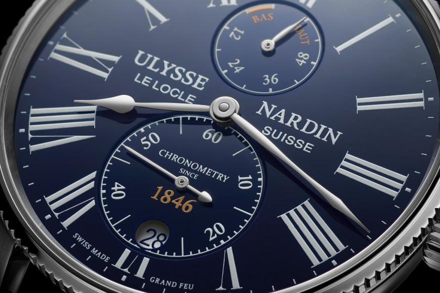 Часы Marine Torpilleur Bleu Enamel 42 mm, Ulysse Nardin