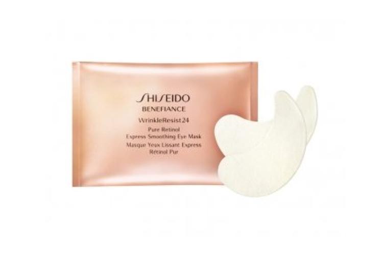 Набор масок для глаз моментального действия на основе чистого ретинола Benefiance WrinkleResist24 Pure Retinol Express Smoothing Eye Mask, Shiseido