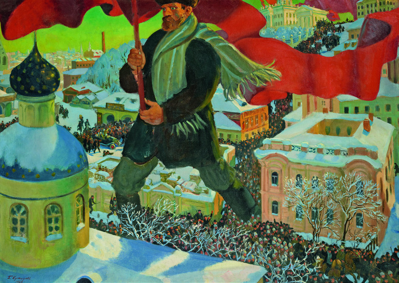 Борис Кустодиев. «Большевик», 1920